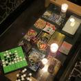 【カードゲーム等も豊富にご用意しています】
