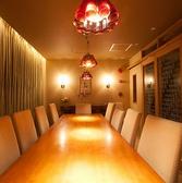 有名デザイナー間宮吉彦氏作の癒しリゾート空間。その中でも一番人気がこのVIP個室!ご予約必須です。素敵な空間での、思い出に残るパーティーをご案内させて頂いております。