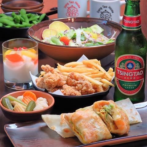 全9品★2時間半飲み放題付!台湾料理を堪能できるコース5500円(税込)♪