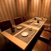 落ち着いた空間の6名テーブル個室
