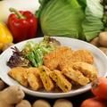 料理メニュー写真道産野菜の熱々サクサクのコロッケ!