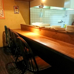 オープンキッチンのカウンター席です。