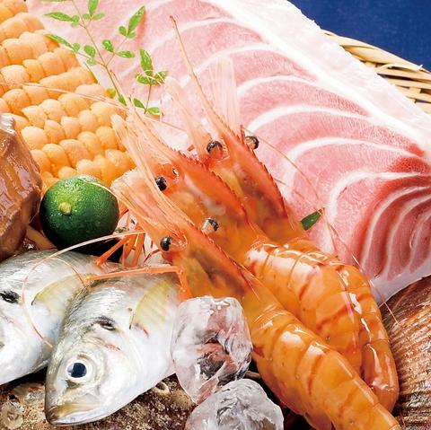 厳選された新鮮な海の幸を、種類豊富にご用意しております。