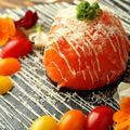 料理メニュー写真●サーモンドームカルパッチョ