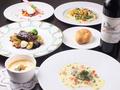 料理メニュー写真季節の食材を使用した特製ディナーコース