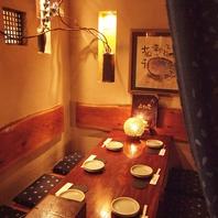竹と木造りの和風居酒屋