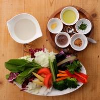 新鮮な野菜・魚介をふんだんに使用した料理が人気!
