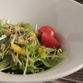 料理メニュー写真沢庵と揚げじゃこの京水菜サラダ