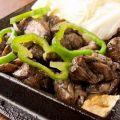 料理メニュー写真地頭鶏もも炭火焼き(中・大)