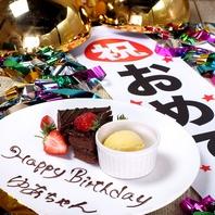 誕生日にデザートプレート