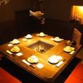 囲炉付きの1部屋限定個室。同僚・ご友人同士で囲んで話せます!人気が高いので、平日がオススメです!