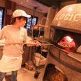 最高においしいピザの状態を熟知したピザ職人が丁寧に焼き上げます!