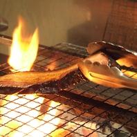 肉や魚を炭火で炙る。。。