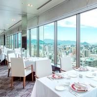 ホテル最上階のレストラン