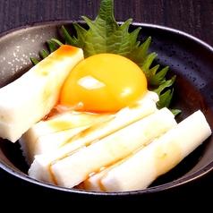長芋短冊月見/たこわさび/えだ豆(茶豆使用)