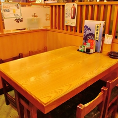 【テーブル席】2名様から最大4名様までご利用頂けるテーブル席です。