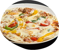 料理メニュー写真てりやきチキンピザ/シーチキンピザ
