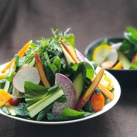いずみ野産の新鮮なお野菜をたっぷりいただけます。ランチビュッフェにもサラダあり!