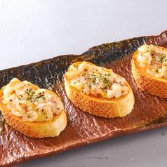 料理メニュー写真海老バゲット