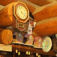 掛け時計の音が心地よくリズムを刻む店内♪