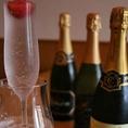 シャンパンに浮かぶいちごが女ゴコロをくすぐります♪サプライズにぜひ!