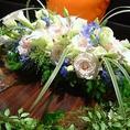 結婚式二次会の飾りの花ご用意致します。