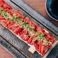 【韓国で大人気】ユッケ寿司1100円