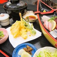 定食は新鮮なお魚をはじめ品数豊富です!