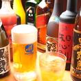 種類豊富な美味しいお酒をご用意しております♪また、単品飲み放題もあり! [尾久/飲み放題/焼き鳥/ビール/座敷/宴会/飲み会/女子会/デート]