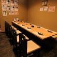 会社宴会に最適な奥のテーブル席