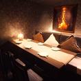 ◆4名様~6名様用個室テーブル席◆モダンな雰囲気のデザイナーズ空間ですので、落ち着いてお食事をお楽しみ頂けます。椅子やソファーも座り心地の良い物を採用しておりますので、ストレスフリーでおくつろぎ頂けます。