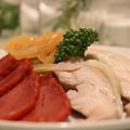 料理メニュー写真前菜三種類の盛り合わせ