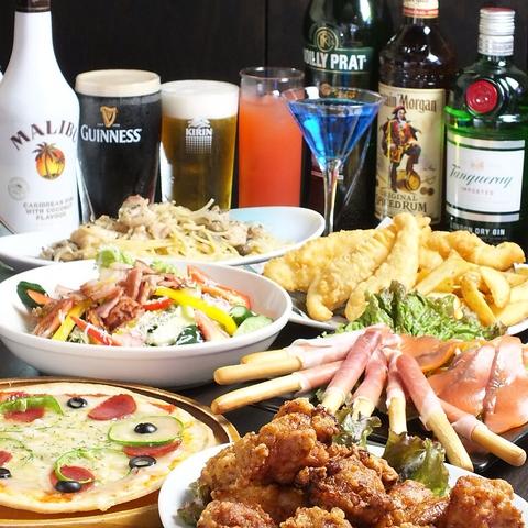 本格的な料理やお酒が楽しめるスポーツバー♪20名~お店まるごと貸切可能です!!
