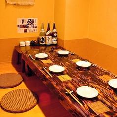 4名~最大8名様までOKの個室。ご接待や少人数での宴会、おもてなしの宴会などにご利用下さい。