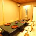 2名様から8名様まで可能の掘り炬燵式完全個室です。会社宴会や接待向けのお席です。