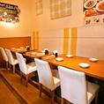 【総席数66席】仕事帰りに☆4名掛けテーブルは全部で13席ございます