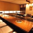 最大24名様までの3階宴会半個室でございます。掘りごたつ席なので、ゆったりくつろぎながら焼肉宴会をお楽しみいただけます♪