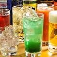 コースの飲み放題は生ビールOK!!さらに豊富なドリンクメニューをご用意しております☆