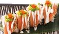 料理メニュー写真サーモンハラスの炙り寿司(6カン)