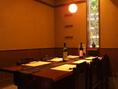【テーブル席 完全個室】6名様までご利用頂けるテーブル席。扉を閉めると完全個室になります。接待・食事会にどうぞ…