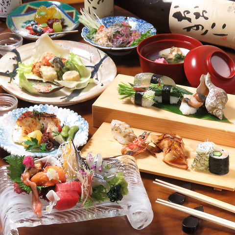 【ランチ営業・テイクアウト有り】季節の天然魚と有機野菜が楽しめる京寿司・割烹