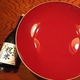 7大特典【その5】〆に特大盃で日本酒を…