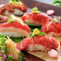【岐阜駅すぐ】ヘルシーで高タンパクな肉寿司は大人気!