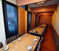 テーブル席の個室空間は最大36名様までご利用頂けます。歓送迎会・忘新年会・同窓会などに最適です。