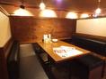 【テーブル席】半個室のテーブル席・個室のテーブル席など総席数44席をご用意しております!お客様の人数に合わせご案内いたします!お席の詳細などは、気軽にお問い合わせください!※写真は一例です