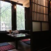 定禅寺通りを見渡せる個室は家族連れに大人気の一部屋2名~4~6名対応