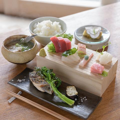 刺身、西京焼きやムニエルなど!盛り付けにもこだわり 刺身定食◇1,780円(税込)