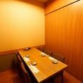2~6名までのテーブル個室。壁・扉のあるプライベート空間で、ビジネス・接待使いにも安心!
