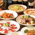 毎月替わる飲み放題込の4000円コースが人気。旬の食材をお肉、お魚、お野菜バランス良く楽しめます。