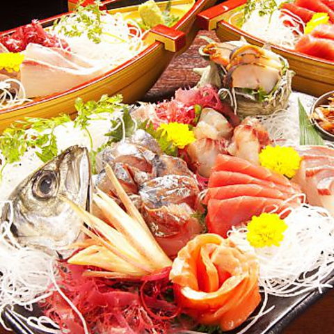 毎朝直送鮮魚で造るお刺身は絶品♪もつ鍋・しゃぶしゃぶ・地鶏をご用意しております♪